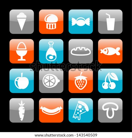 Food icons for app