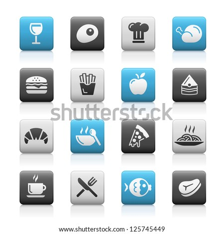 Food Icons - 1 // Matte Series - stock vector