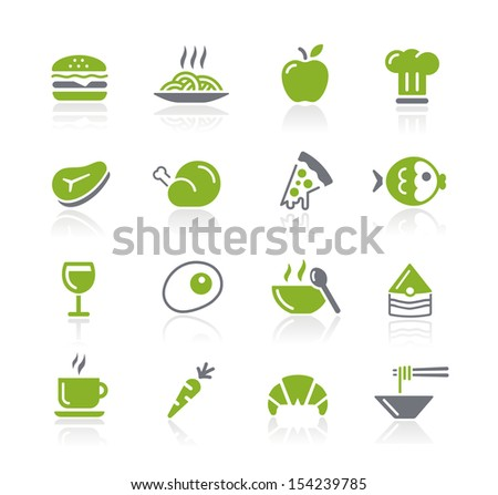 Food Icons - 1 of 2 // Natura Series - stock vector