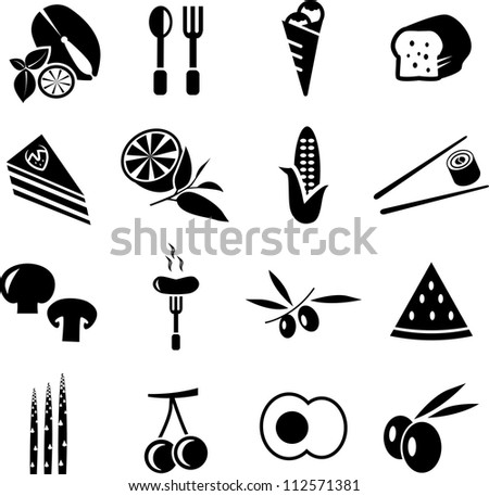 Food Icons Set - stock vector