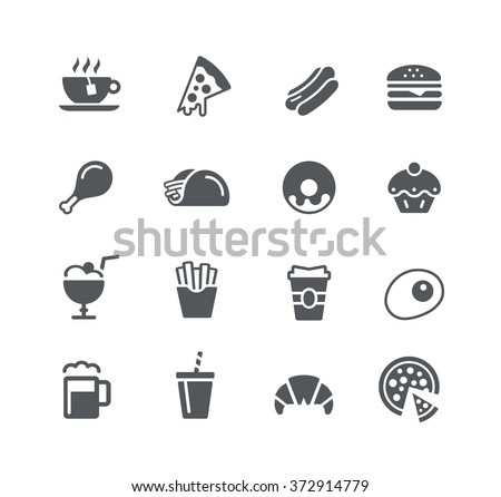 Food Icons - 1 / Utility Series - stock vector
