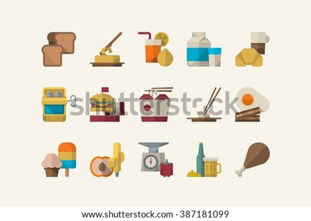 food icons, vector elements - stock vector