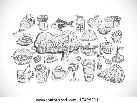 Food Icons Vector set - stock vector
