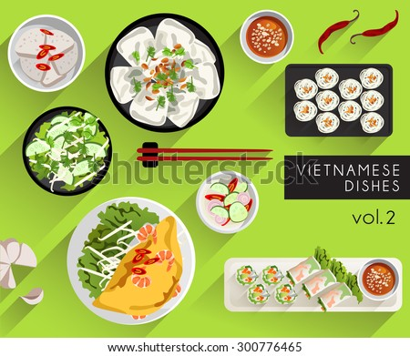 Food Illustration : Vietnamese Cuisine  : Vector Illustration