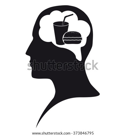 Food in mind - stock vector