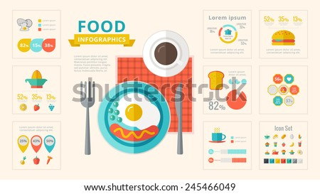 Food Infographic Elements. - stock vector