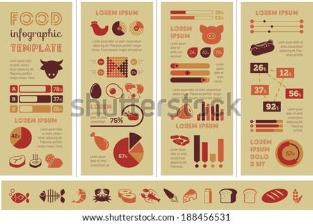 Food Infographic Template. - stock vector
