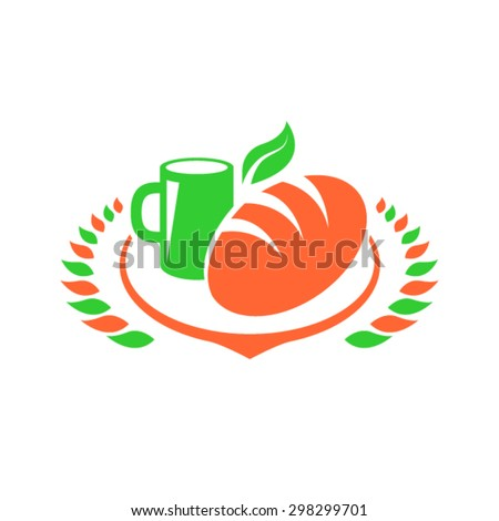 Food logo design. Vector product icon. - stock vector