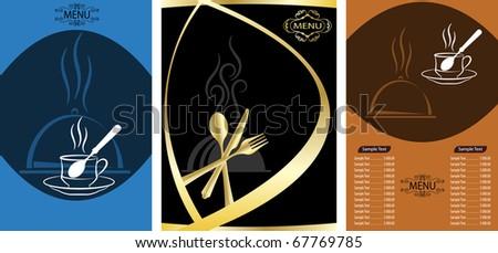 Food Menu Design - stock vector