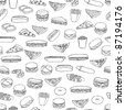 food pattern - stock vector