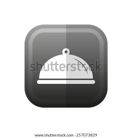 Food platter serving sign - vector icon, flat design - stock vector