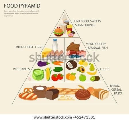 Health Food Infographic Food Pyramid Healthy Stock Vector ...