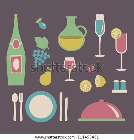 Food, restaurant, menu design. Vector illustration. - stock vector