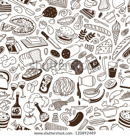 food - seamless background