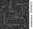 FOOD. Seamless vector pattern with word cloud. - stock photo
