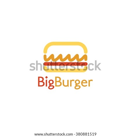 Food service vector logo. Fast food, burger, cafe and restaurant logo. design template - stock vector