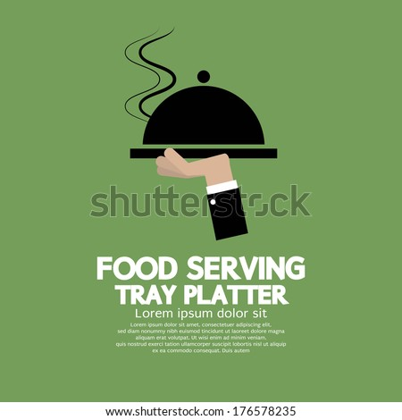 Food Serving Tray Platter - stock vector