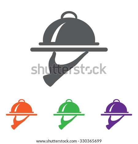 Food Serving Tray Platter. colourful  buttons - stock vector
