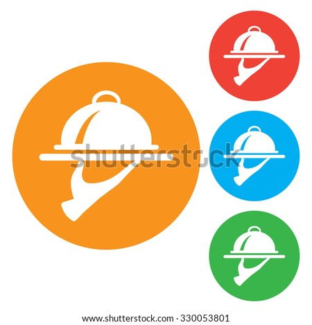 Food Serving Tray Platter. colourful Round buttons - stock vector