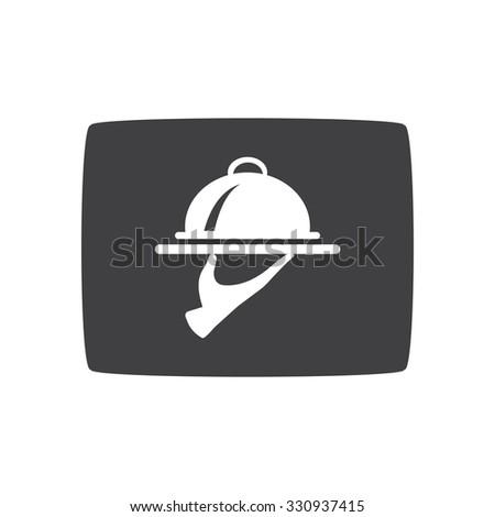 Food Serving Tray Platter. eps 10. - stock vector