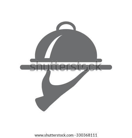 Food Serving Tray Platter. vector. eps 10. - stock vector