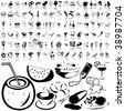 Food set of black sketch. Part 4-2. Isolated groups and layers. - stock vector