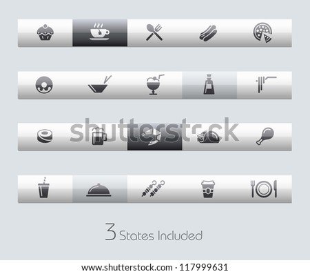 Food - Set 2 of 2 // Classic Series +++ It includes 3 buttons states in different layers. +++ - stock vector