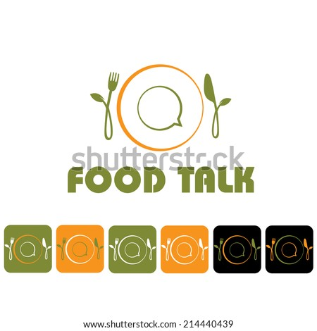 food talk illustration and icon set - stock vector