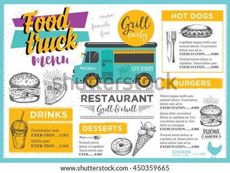 Marchie 39 s portfolio on shutterstock for Food truck menu design