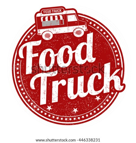 Food truck grunge rubber stamp on white background, vector illustration - stock vector