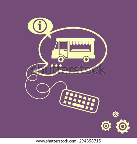 Food truck icon stock images royalty free images for Food truck design app