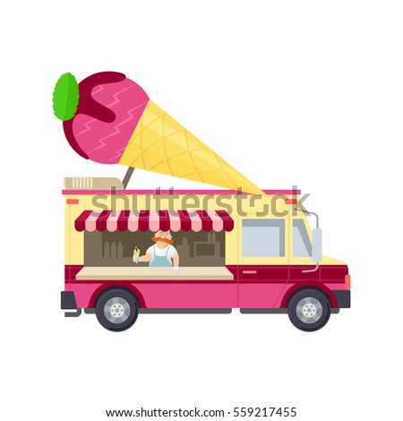 ice cream truck stock images royalty free images vectors shutterstock. Black Bedroom Furniture Sets. Home Design Ideas