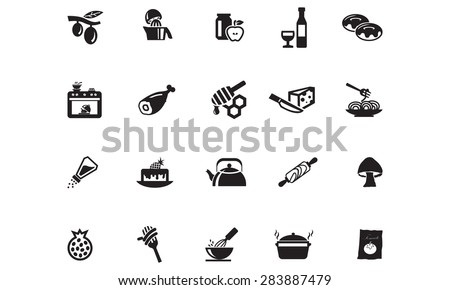 Food Vector Icons 10 - stock vector