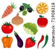 Foodstuff icons set. Illustration vector. - stock vector