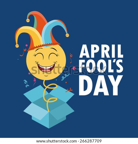 fools day design, vector illustration eps10 graphic  - stock vector