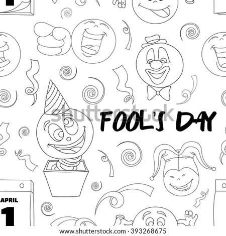 Fools day pattern- 1 April - stock vector