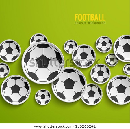Football abstract background. Vector illustration. - stock vector
