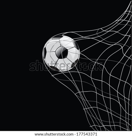 football and net vector - stock vector