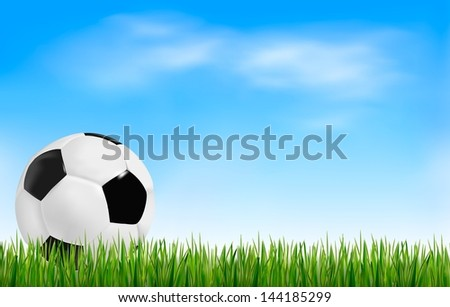 Football background. Vector.