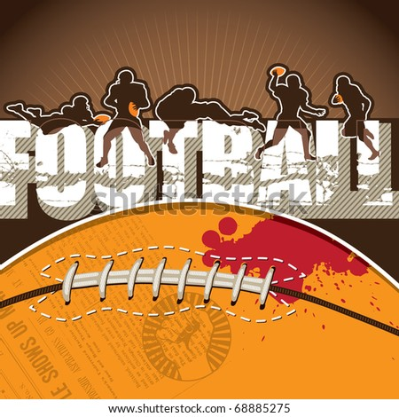 Football background with designed artwork. Vector illustration. - stock vector