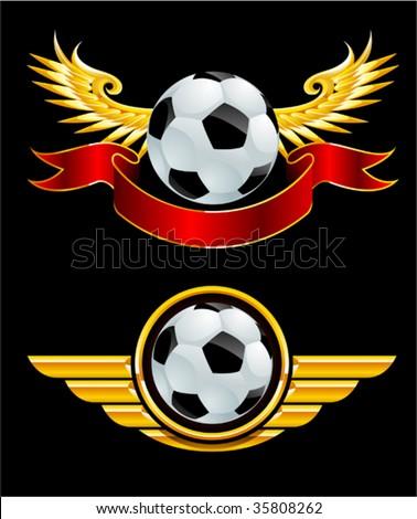 football badge - stock vector