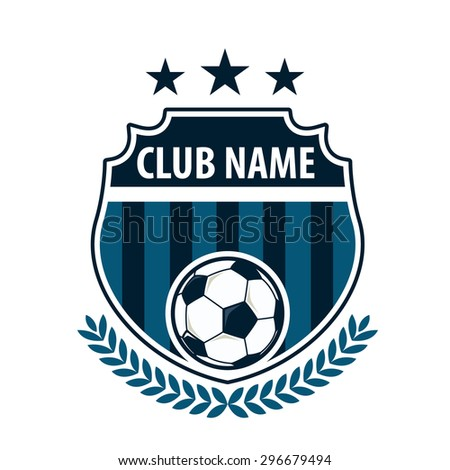 Football Badge Logo Template Design,soccer Team,vector Illustration
