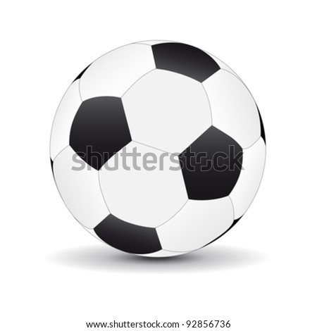 Football ball - stock vector