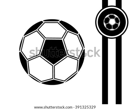 football ball - black and white vector icon