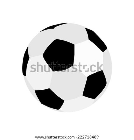 Football ball, football ball isolated - stock vector