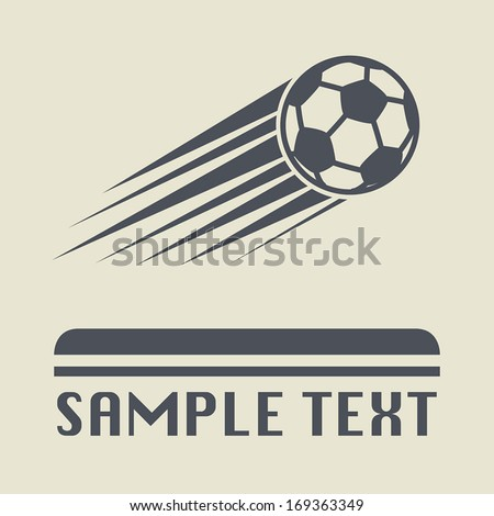 Football ball icon or sign, vector illustration - stock vector