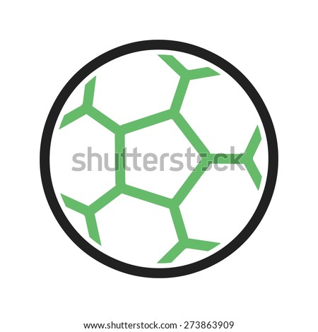 Football, ball, soccer icon vector image. Can also be used for sports, fitness, recreation. Suitable for web apps, mobile apps and print media. - stock vector