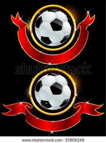 football banner - stock vector