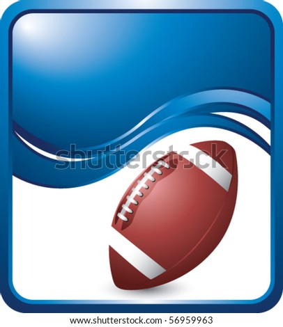 football blue wave backdrop - stock vector