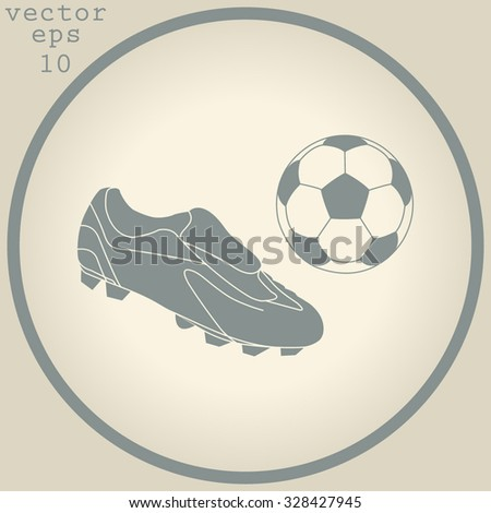 Football boots - vector illustration with ball - stock vector